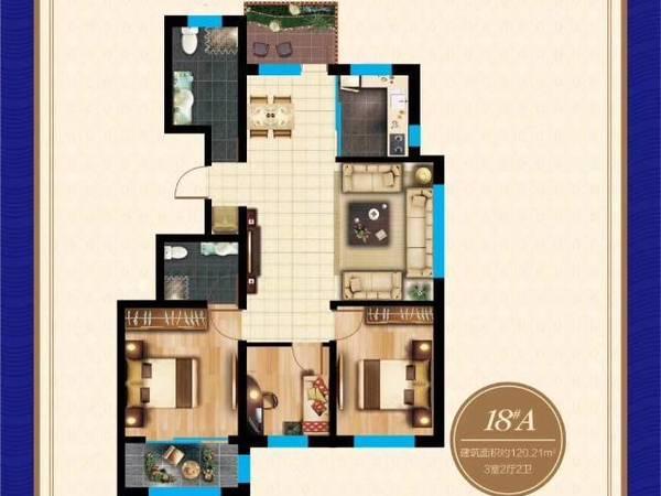 出售建大未来城花园洋房80到120平
