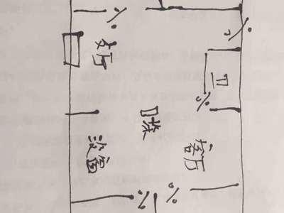 经区九龙湾花园多层2楼114平3室西边户毛坯