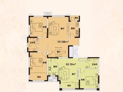 威高花园 熙和苑,62.27平,带储藏室,房证过户,可以贷款