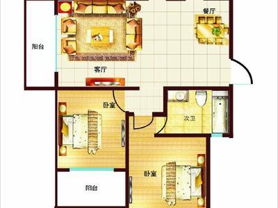 实验 戚谷疃南区99.67平,西边户,超大客厅,带草厦子