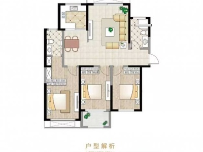 高新花园135平米175.8万带车位3室2厅2卫