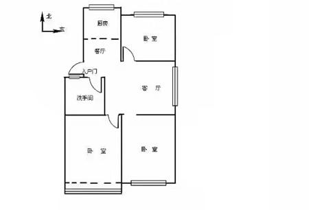 小城故事多层东边户92平精装92.8万,三室两厅带草厦