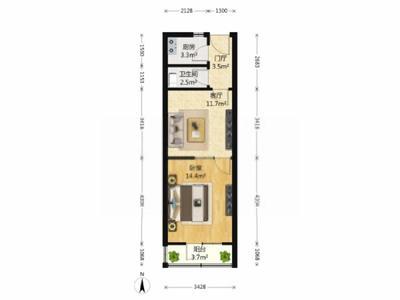 昌鸿小区楼房出租,精装,电梯,楼层好,