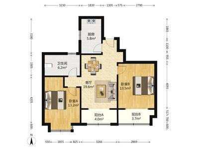 高区帝王宫新浪屿花园小高层电梯楼房出租两室向阳楼房位置很好