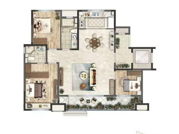 出售一品莲花城3室2厅2卫140平米152万住宅