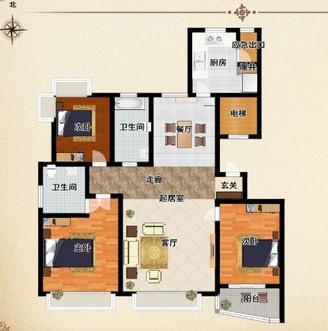 经区海滨南路悦海花园三室两厅两卫可看海南向大客厅