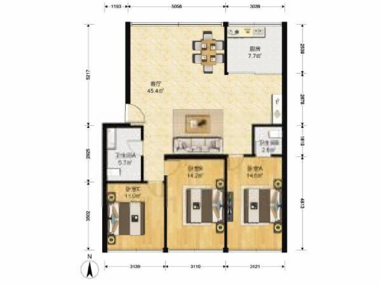 楼房出租,楼层好,昌鸿小区C区精装修楼房出租楼层好位置佳