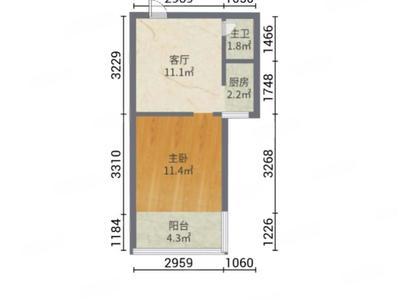 高区一中,东发青情园49平精装小户型