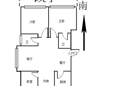 高区山海郡幸福里高层一楼带院128平145.8万,三室两厅两卫