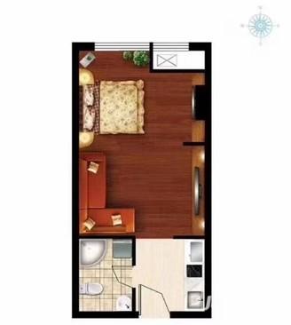 金沙国际一线高层观海69.8万57平 1室1厅 精装拎包入住
