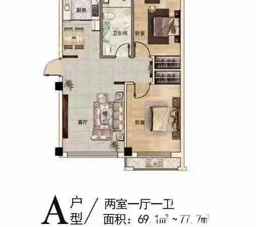 低首付草庙子悦泉花园,多层带储藏室,好户型,仅售34万房证过户
